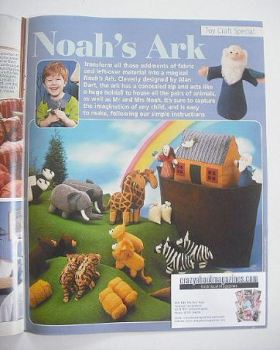Noah's Ark and animals to sew (designed by Alan Dart)