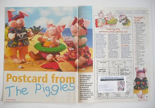 The Piggles beach outfits to sew (designed by Alan Dart)