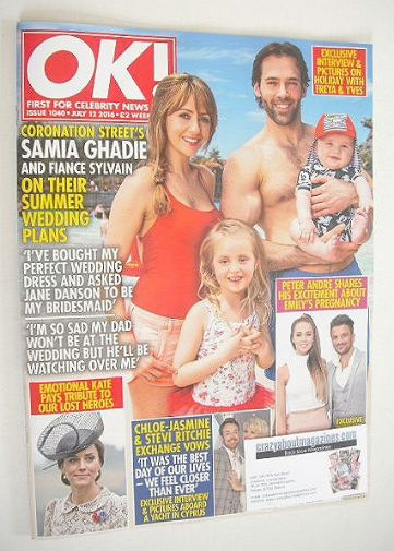 <!--2016-07-12-->OK! magazine - Samia Ghadie and Sylvain cover (12 July 201