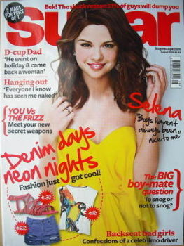 Sugar magazine - Selena Gomez cover (August 2010)