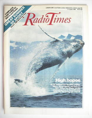 <!--1986-06-07-->Radio Times magazine - High Hopes cover (7-13 June 1986)