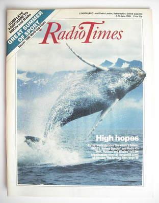 <!--1986-06-07-->Radio Times magazine - High Hopes cover (7-13 June 1986)