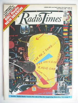 <!--1986-01-18-->Radio Times magazine - Disc Jockey cover (18-24 January 19