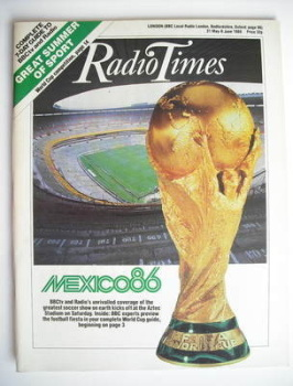Radio Times magazine - Mexico World Cup (31 May - 6 June 1986)