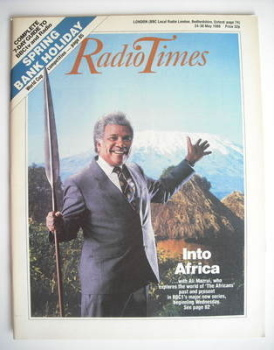 Radio Times magazine - Into Africa cover (24-30 May 1986)