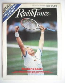 Radio Times magazine - Boris Becker cover (21-27 June 1986)