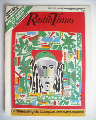 <!--1986-06-14-->Radio Times magazine - Caribbean Nights cover (14-20 June