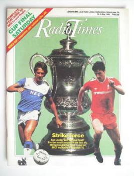 Radio Times magazine - Gary Lineker and Ian Rush cover (10-16 May 1986)