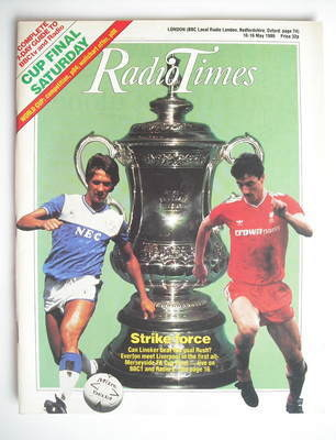 <!--1986-05-10-->Radio Times magazine - Gary Lineker and Ian Rush cover (10