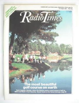 Radio Times magazine - Augusta National cover (12-18 April 1986)