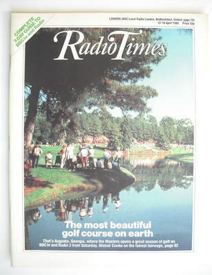 <!--1986-04-12-->Radio Times magazine - Augusta National cover (12-18 April