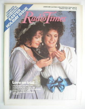 Radio Times magazine - Jean Rigby and Ashley Putnam cover (29 March - 4 April 1986)
