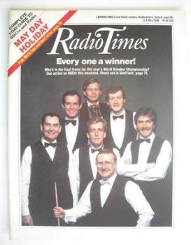 Radio Times magazine - World Snooker Championship cover (3-9 May 1986)
