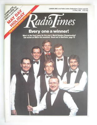 <!--1986-05-03-->Radio Times magazine - World Snooker Championship cover (3