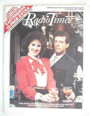 <!--1986-02-22-->Radio Times magazine - Anita Dobson and Leslie Grantham co