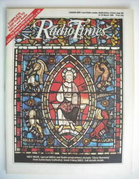 Radio Times magazine - Holy Week cover (22-28 March 1986)