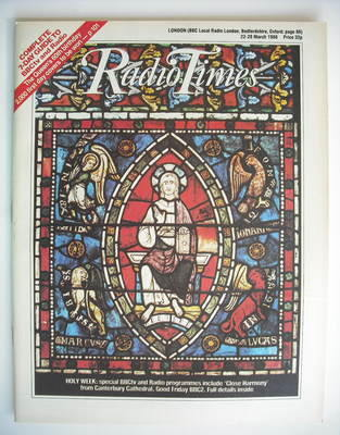 <!--1986-03-22-->Radio Times magazine - Holy Week cover (22-28 March 1986)