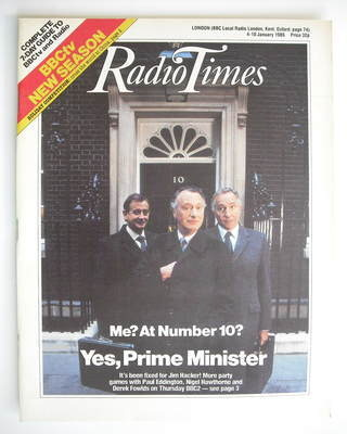 <!--1986-01-04-->Radio Times magazine - Yes Prime Minister cover (4-10 Janu