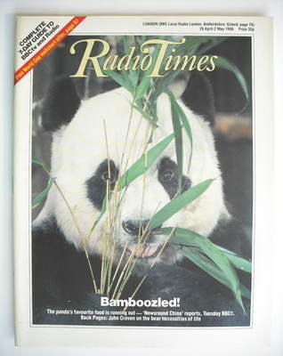 <!--1986-04-26-->Radio Times magazine - Panda cover (26 April - 2 May 1986)