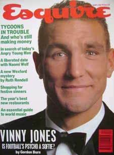 Esquire magazine - Vinnie Jones cover (Winter 1991/1992)