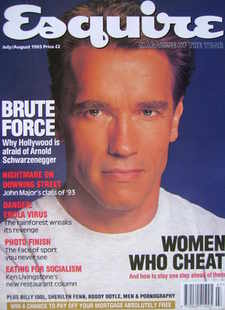 Esquire magazine - Arnold Schwarzenegger cover (July/August 1993)