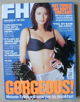 FHM magazine - Melanie Sykes cover (January 1998)