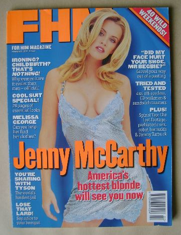 <!--1997-02-->FHM magazine - Jenny McCarthy cover (February 1997)