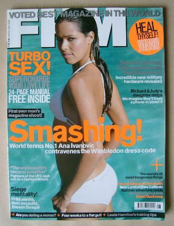 <!--2008-08-->FHM magazine - Ana Ivanovic cover (August 2008)