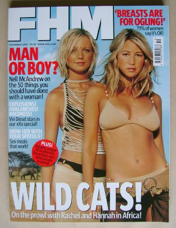 <!--2002-11-->FHM magazine - Rachel Stevens and Hannah Spearritt cover (Nov