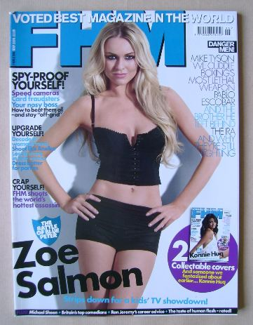 <!--2009-05-->FHM magazine - Zoe Salmon cover (May 2009)