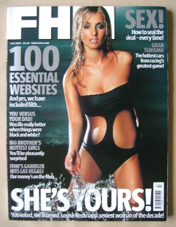 <!--2004-07-->FHM magazine - Louise Redknapp cover (July 2004)