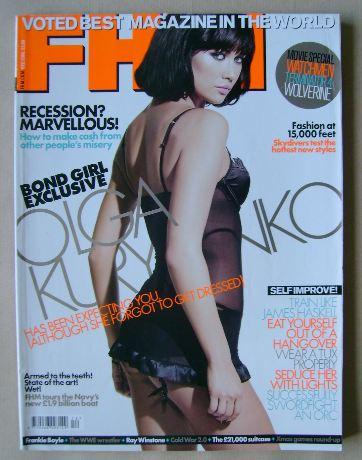 <!--2008-12-->FHM magazine - Olga Kurylenko cover (December 2008)