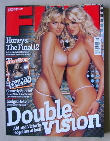 <!--2004-12-->FHM magazine - Abi Titmuss and Victoria Silvstedt cover (Dece