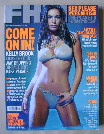 <!--2000-06-->FHM magazine - Kelly Brook cover (June 2000)