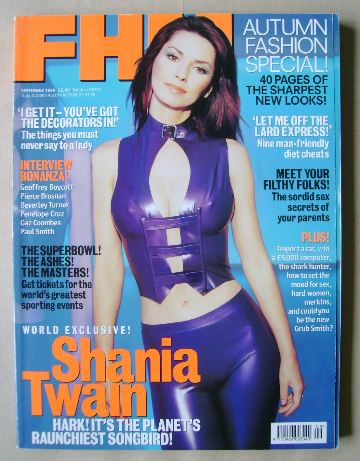 <!--1999-09-->FHM magazine - Shania Twain cover (September 1999)