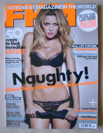 <!--2008-10-->FHM magazine - Abbey Clancy cover (October 2008)