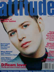 Attitude magazine - Peter Cunnah cover (June 1994)