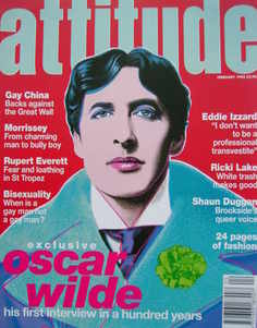 <!--1995-02-->Attitude magazine - Oscar Wilde cover (February 1995)