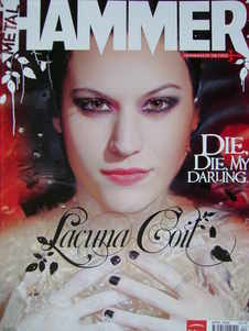 Metal Hammer magazine - Lacuna Coil cover (April 2006)