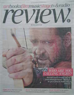 The Daily Telegraph Review newspaper supplement - 8 May 2010 - Russell Crow