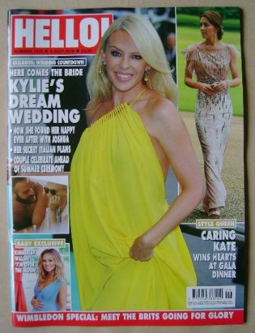 <!--2016-07-04-->Hello! magazine - Kylie Minogue cover (4 July 2016 - Issue