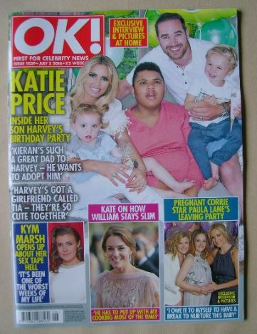 <!--2016-07-05-->OK! magazine - Katie Price and Family cover (5 July 2016 -