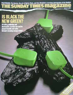 <!--2007-10-14-->The Sunday Times magazine - Is Black The New Green? cover