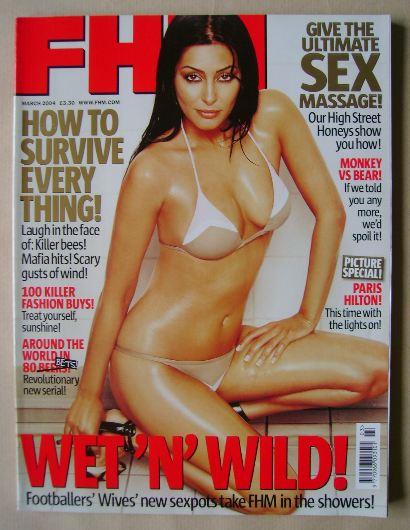 <!--2004-03-->FHM magazine - Laila Rouass cover (March 2004)
