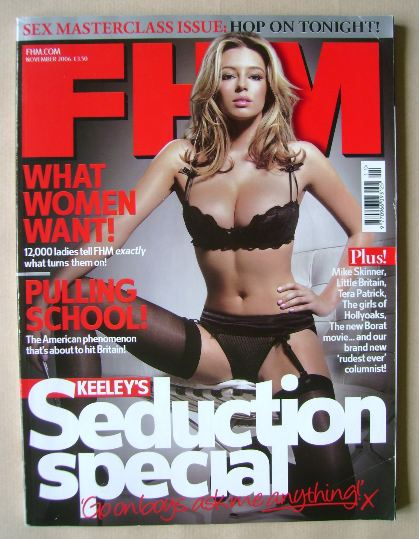 <!--2006-11-->FHM magazine - Keeley Hazell cover (November 2006)