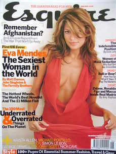 <!--2003-06-->Esquire magazine - Eva Mendes cover (June 2003)