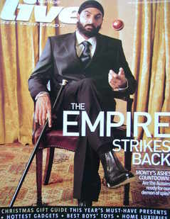 <!--2006-11-19-->Live magazine - Monty Panesar cover (19 November 2006)