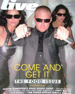 Live magazine - Heston Blumenthal cover (16 September 2007)