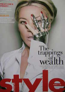 <!--2007-10-21-->Style magazine - Daphne Guinness cover (21 October 2007)
