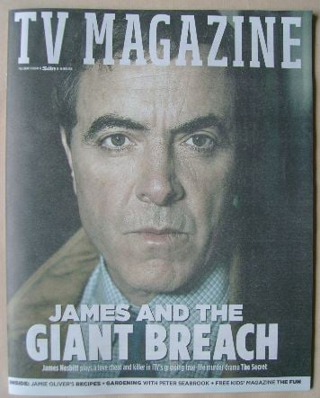 <!--2016-04-23-->The Sun TV magazine - 23 April 2016 - James Nesbitt cover